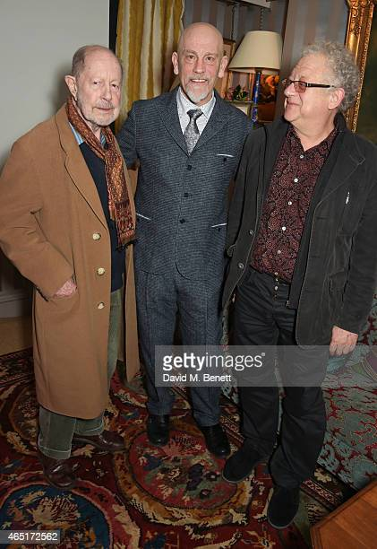 Nicolas Roeg John Malkovich and Jeremy Thomas attend the premiere of 'A Postcard From Istanbul' directed by John Malkovich in collaboration with St...