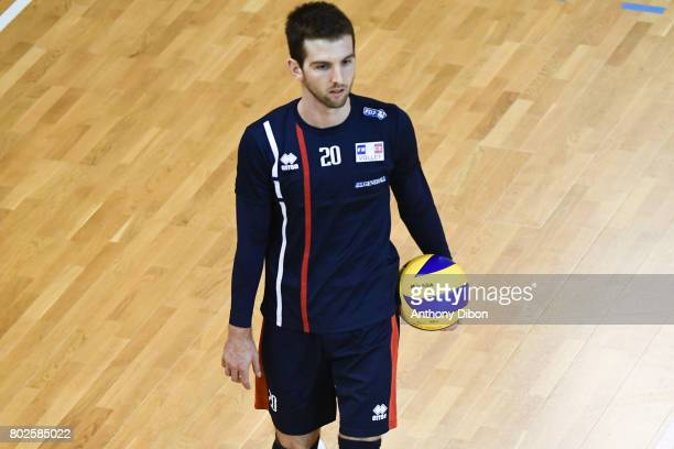 Nicolas Rossard of France during a training session of the French volleyball national team on June 28 2017 in Vincennes France