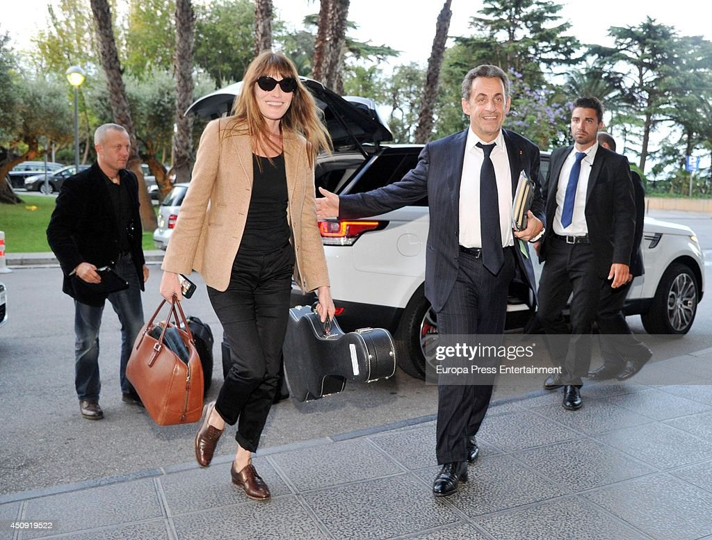<a gi-track='captionPersonalityLinkClicked' href=/galleries/search?phrase=Nicolas+Sarkozy&family=editorial&specificpeople=211375 ng-click='$event.stopPropagation()'>Nicolas Sarkozy</a> and <a gi-track='captionPersonalityLinkClicked' href=/galleries/search?phrase=Carla+Bruni&family=editorial&specificpeople=235729 ng-click='$event.stopPropagation()'>Carla Bruni</a> are seen on June 18, 2014 in Barcelona, Spain.
