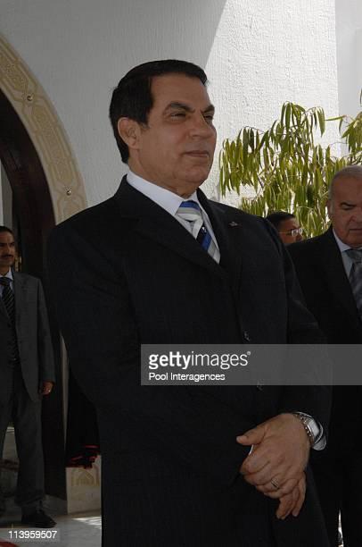 Nicolas Sarkozy and Carla Bruni Sarkozy leave Tunisia after a 3 day state visit in Tunisia on April 30 2013Tunisian President Zine El Abidine Ben Ali