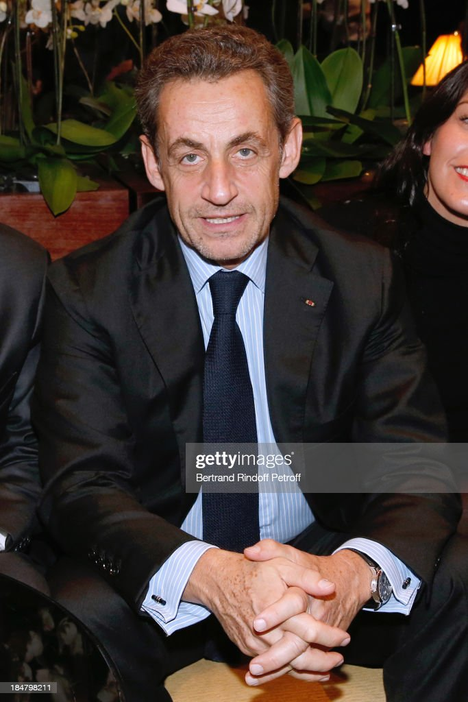 Nicolas Sarkozy attend the Jean-Paul Moureau book signing for 'Soigner Autrement' at Hotel Park Hyatt Paris Vendome on October 16, 2013 in Paris, France.