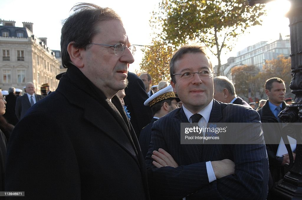 <a gi-track='captionPersonalityLinkClicked' href=/galleries/search?phrase=Nicolas+Sarkozy&family=editorial&specificpeople=211375 ng-click='$event.stopPropagation()'>Nicolas Sarkozy</a> attends an Armistice Day ceremony, In Paris, France On November 11, 2007-<a gi-track='captionPersonalityLinkClicked' href=/galleries/search?phrase=Herve+Novelli&family=editorial&specificpeople=4345468 ng-click='$event.stopPropagation()'>Herve Novelli</a> and <a gi-track='captionPersonalityLinkClicked' href=/galleries/search?phrase=Martin+Hirsch&family=editorial&specificpeople=2273261 ng-click='$event.stopPropagation()'>Martin Hirsch</a>. France's President <a gi-track='captionPersonalityLinkClicked' href=/galleries/search?phrase=Nicolas+Sarkozy&family=editorial&specificpeople=211375 ng-click='$event.stopPropagation()'>Nicolas Sarkozy</a> attends a ceremony to commemorate Armistice Day at the Arc de Triomphe in Paris.