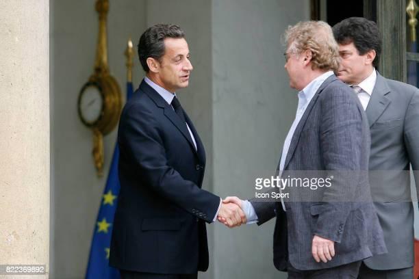 Nicolas SARKOZY / Daniel COHN BENDIT President du groupe Verts / Ale au parlement Europeen Rencontre avec Nicolas Sarkozy Palais de l Elysee Paris