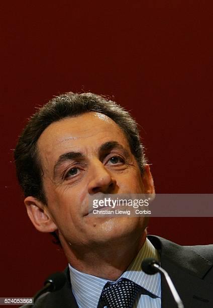 Nicolas Sarkozy during a meeting of new UMP members