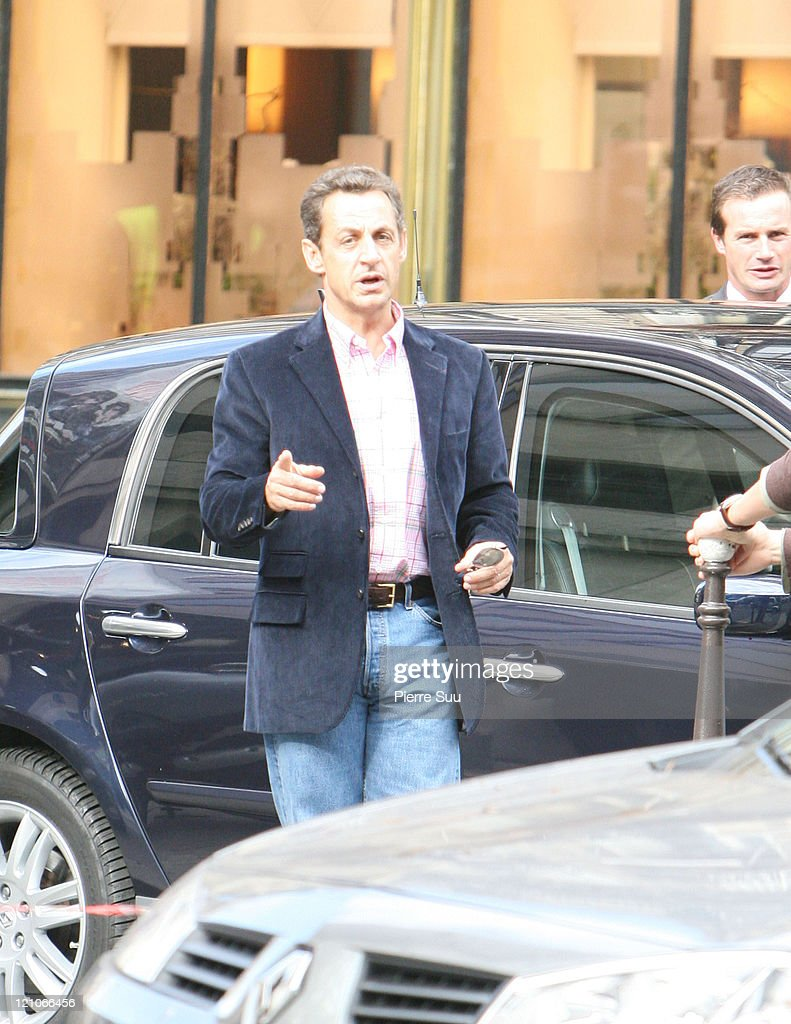 Nicolas Sarkozy during Nicolas Sarkozy and Family Sighting in Paris - September 30, 2006 in Paris, France.