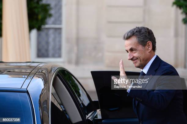 Nicolas Sarkozy during the reception of the CIO by the French President at Elysee Palais on September 15 2017 in Paris France