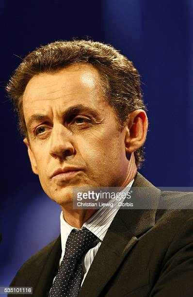 Nicolas Sarkozy leader of the French political party Union for a Popular Movement at the Congress of Mayors of Franc at the Congress of Mayors of...