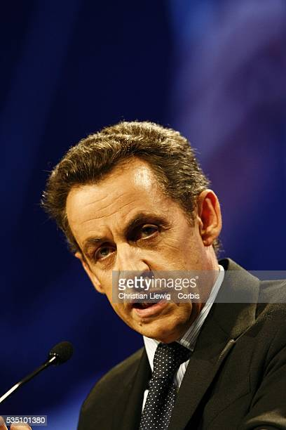 Nicolas Sarkozy leader of the French political party Union for a Popular Movement at the Congress of Mayors of France