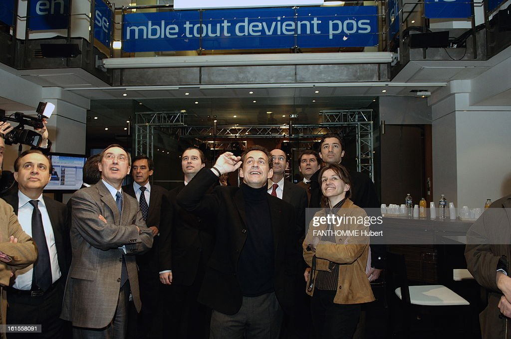 <a gi-track='captionPersonalityLinkClicked' href=/galleries/search?phrase=Nicolas+Sarkozy&family=editorial&specificpeople=211375 ng-click='$event.stopPropagation()'>Nicolas Sarkozy</a> Moves In The Candidate Hq At The Elysee. After his inauguration at the door of Versailles, Nicolas SARKOZY moved into his campaign Qg at 18 rue d'Enghien in the Xth district
