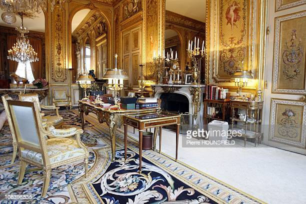 Nicolas Sarkozy's office at Elysee Palace in Paris France on September 20th 2008