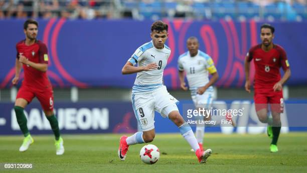 Nicolas Schiappacasse of Uruguay during the FIFA U20 World Cup Korea Republic 2017 Quarter Final match between Portugal and Uruguay at Daejeon World...