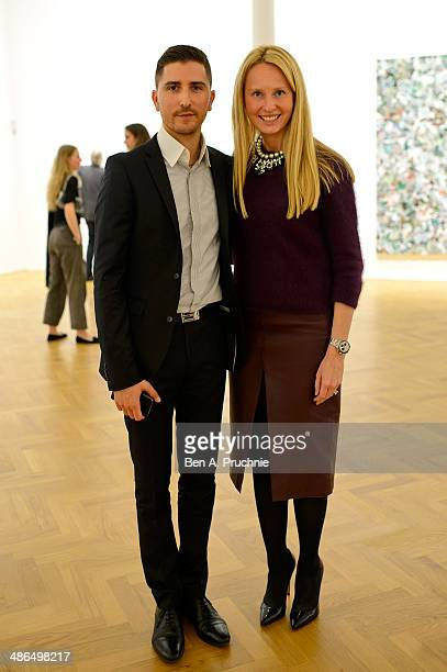 Nicolas Smirnoff and Valentina Volchkova attends as Pace London presents an exhibition by Zhang Huan on April 24 2014 in London England
