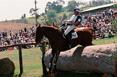 Nicolas Touzaint from France on Cobra d'Or during the threeday event of the 2000 Olympics
