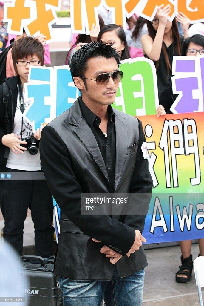 Nicolas Tse attended a charity activity on Sunday November 18, 2012 in Hong Kong, China.