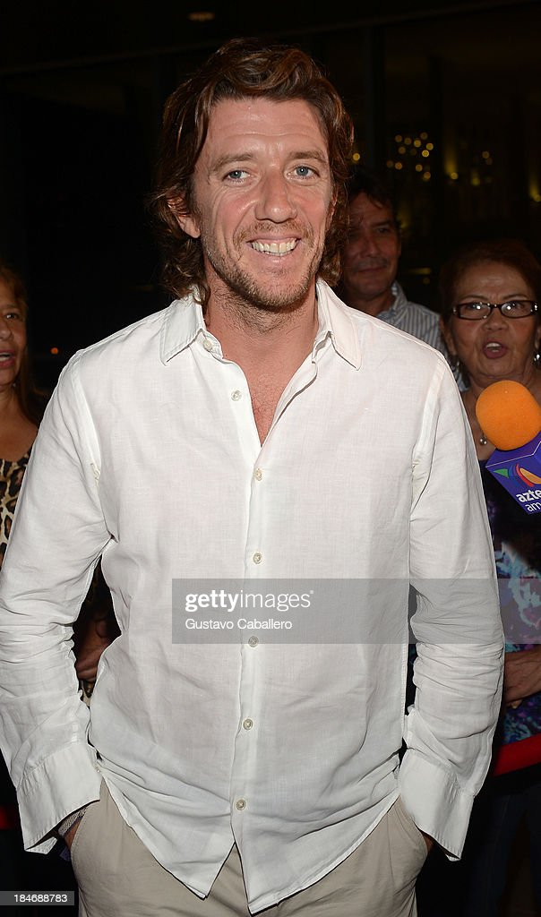 Nicolas Vallejo arrives for the premiere of 'The Snitch Cartel'at Regal South Beach on October 14, 2013 in Miami, Florida.
