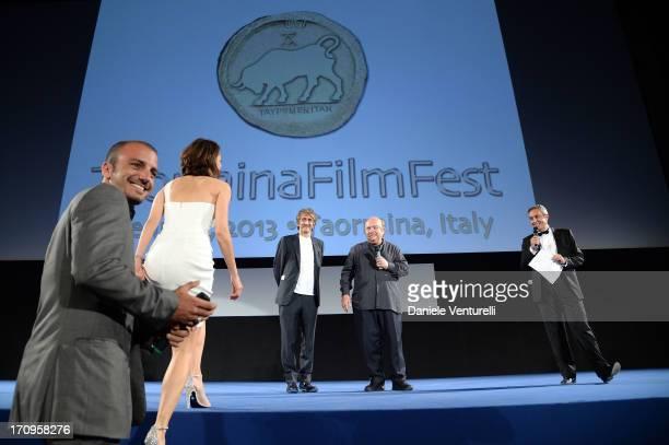 Nicolas Vaporidis Giorgia Surina Sergio Rubini Lino Banfi and Mario Sesti attend Taormina Filmfest 2013 2013 at Teatro Antico on June 20 2013 in...