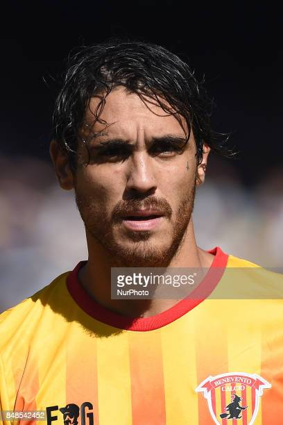 Nicolas Viola of Benevento Calcio during the Serie A TIM match between SSC Napoli and Benevento Calcio at Stadio San Paolo Naples Italy on 17...