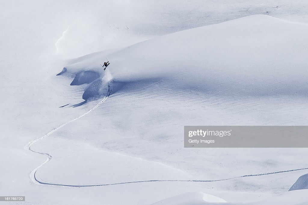 Nicolas Vuignier of Switzerland and Team Europe competes during day 1 of the Swatch Skiers Cup on February 10, 2013 in Zermatt, Switzerland.