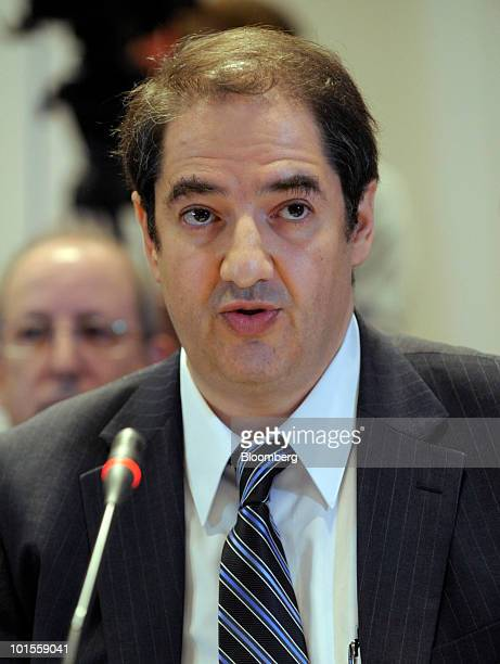 Nicolas Weill group managing director at Moody's Investors Service testifies at a hearing of the Financial Crisis Inquiry Commission in New York US...