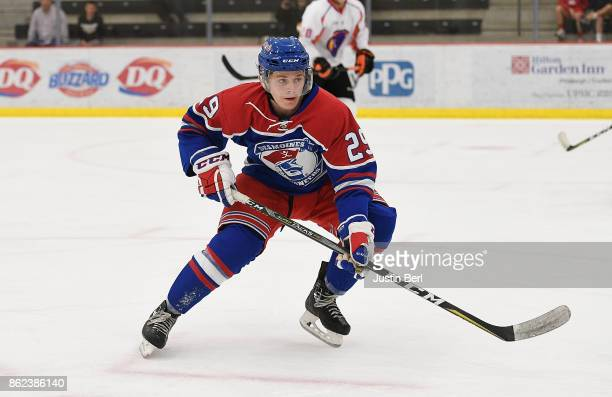 Nicolaus Appendino of the Des Moines Buccaneers skates during the game against the Youngstown Phantoms on Day 4 of the USHL Fall Classic at UPMC...