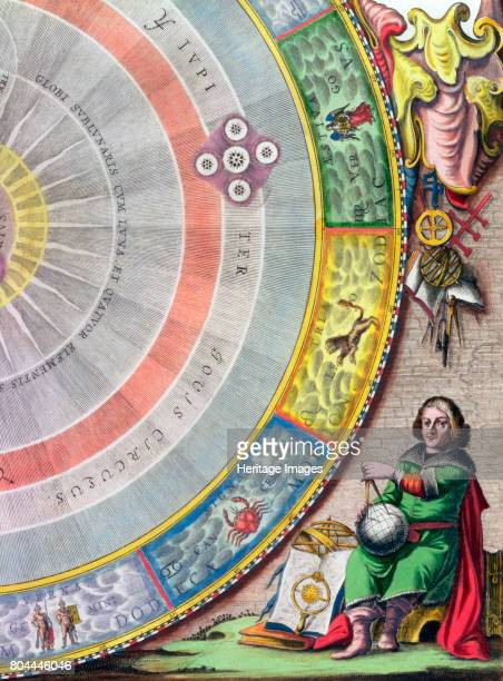 Nicolaus Copernicus Polish astronomer Detail from a map showing the Copernican system of planetary orbits From The Celestial Atlas or The Harmony of...