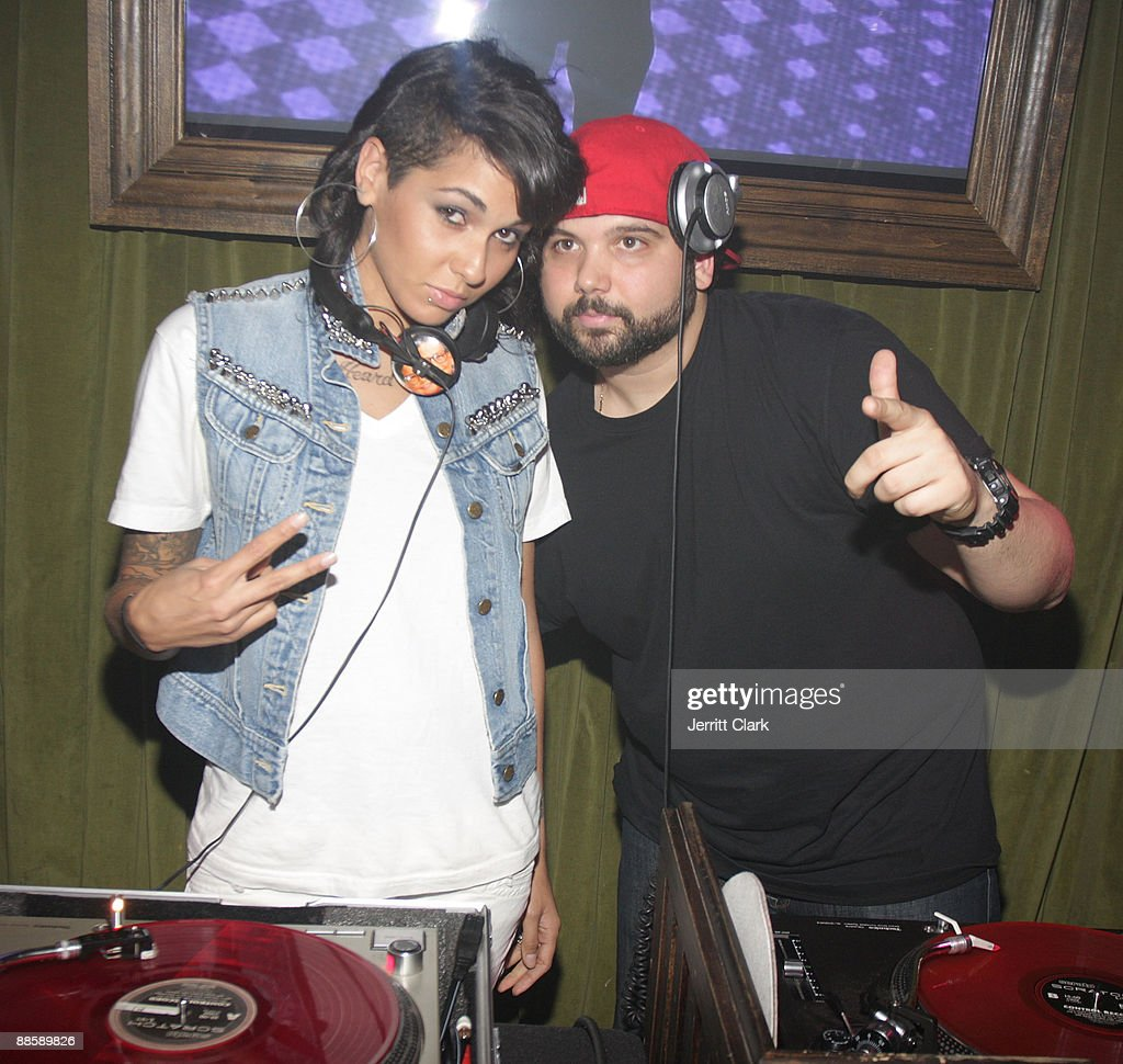 Nicole Albino of NiNa Sky and DJ Soul attend Jeremy Asgari and DJ Soul's Birthday Bash at the Hiro Ballroom at The Maritime Hotel on June 19, 2009 in New York City.