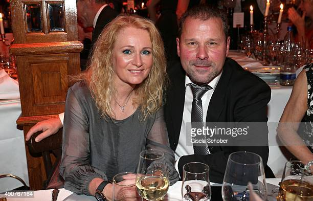 Nicole and her husband Winfried Seibert during Ralph Siegel's 70th birthday party at Schuhbeck's Teatro on September 30 2015 in Munich Germany