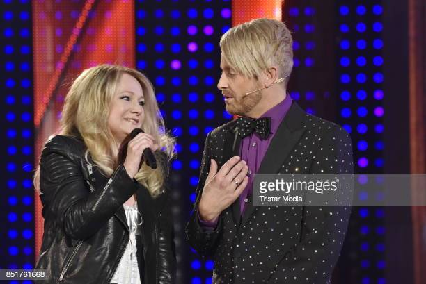 Nicole and Ross Antony during the 'Die SilvesterSchlagerparty' TV Show on September 20 2017 in Leipzig Germany