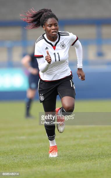Nicole Anyomi of Germany during the England v Germany U17 Girl's Elite Round match on March 27 2017 in Telford England