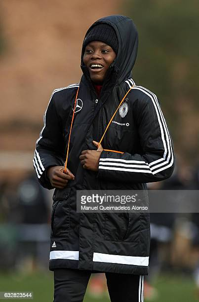Nicole Anyomi of Germany leaves the pitch after the international friendly match between U17 Girl's Germany and U17 Girl's France at Complex Esportiu...