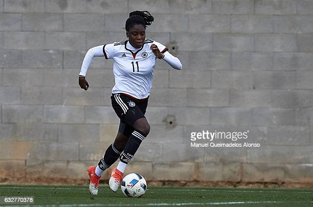 Nicole Anyomi of Germany runs with the ball during the international friendly match between U17 Girl's Germany and U17 Girl's France at Complex...