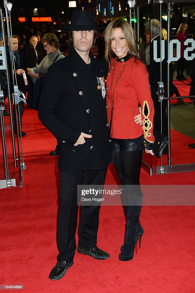 Nicole Appleton and Liam Gallagher attends the premiere of 'Crossfire Hurricane' during the 56th BFI London Film Festival at The Odeon Leicester Square on October 18, 2012 in London, England.