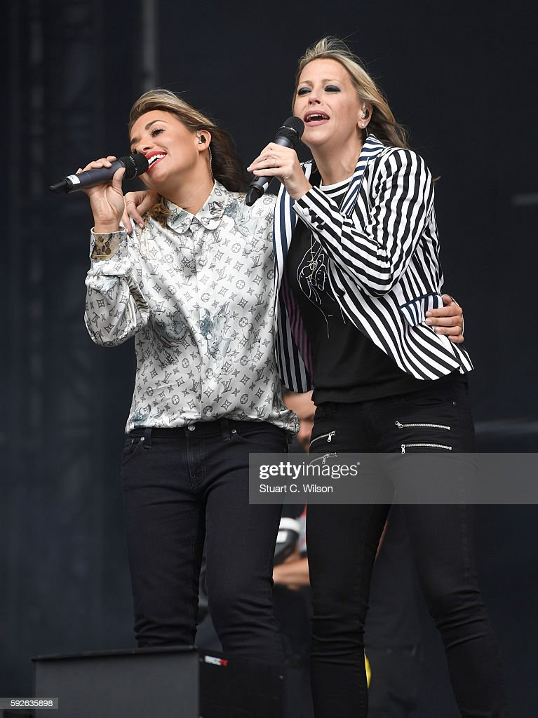 Nicole Appleton and Melanie Blatt of 'All Saints' perform during the V Festival at Hylands Park on August 21 2016 in Chelmsford England