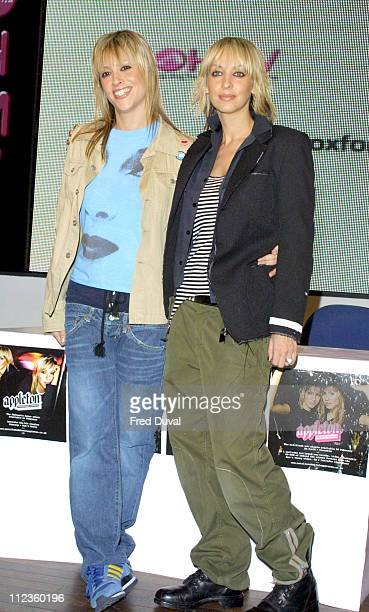 Nicole Appleton and Natalie Appleton during Natalie Appleton and Nicole Appleton signing their album 'Everything Eventual' at HMV Store in London...