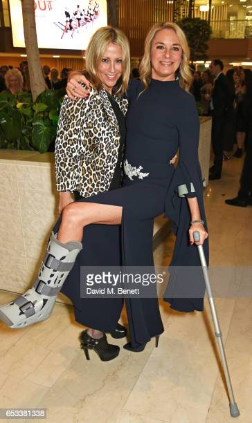 Nicole Appleton and Tamzin Outhwaite attend the press night after party for 'Stepping Out' at the Coutts Bank on March 14 2017 in London England