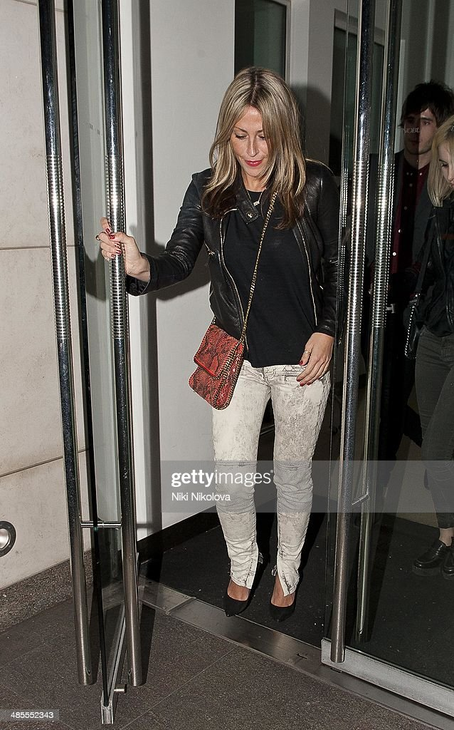 <a gi-track='captionPersonalityLinkClicked' href=/galleries/search?phrase=Nicole+Appleton&family=editorial&specificpeople=211518 ng-click='$event.stopPropagation()'>Nicole Appleton</a> is seen leaving Nobu restaurant, Park Lane on April 18, 2014 in London, England.