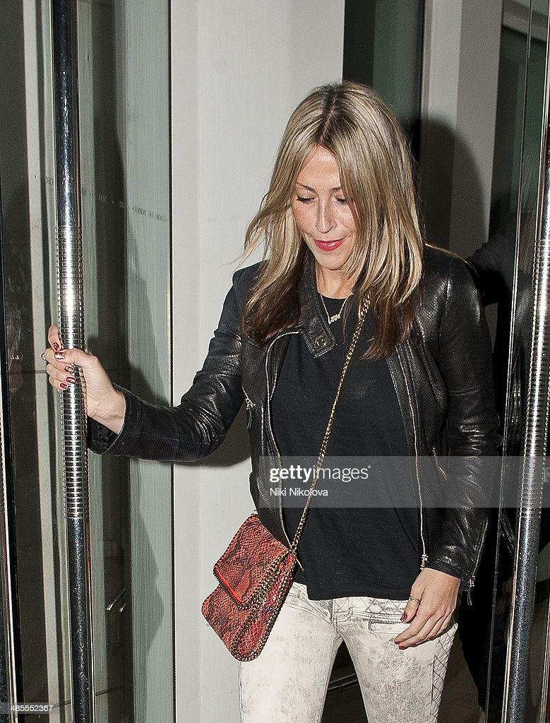 Nicole Appleton is seen leaving Nobu restaurant, Park Lane on April 18, 2014 in London, England.