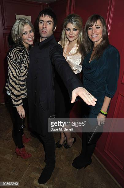 Nicole Appleton Liam Gallagher Holly Willoughby and Tamzin Outhwaite attend the launch of Liam Gallaghers clothing line Pretty Green at the Gore...