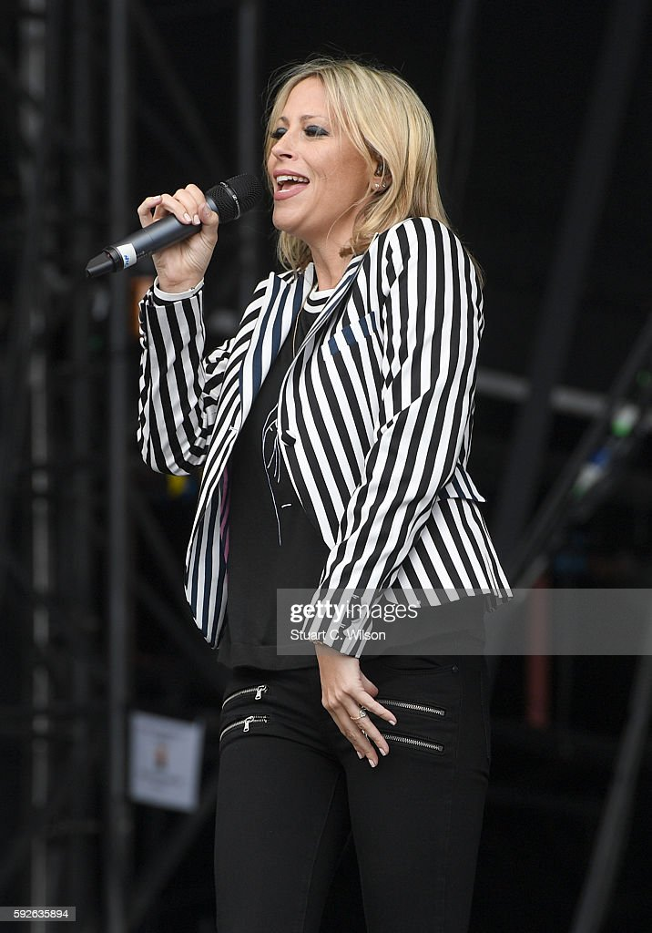 Nicole Appleton of 'All Saints' performs during the V Festival at Hylands Park on August 21 2016 in Chelmsford England
