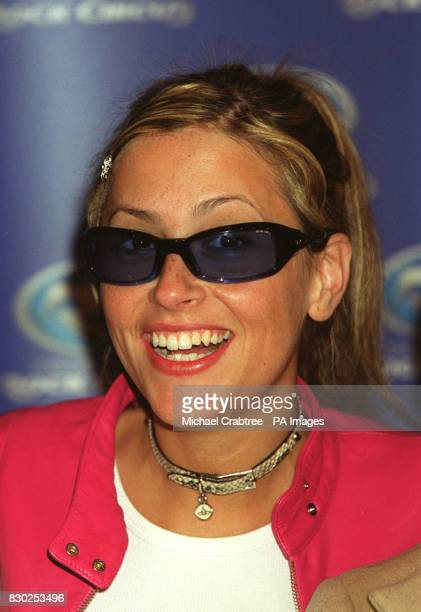 Nicole Appleton of the girl band All Saints at Madame Tussaud's Rock Circus in London