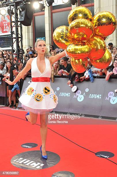 Nicole Arbour arrives at the 2015 MuchMusic Video Awards at MuchMusic HQ on June 21 2015 in Toronto Canada