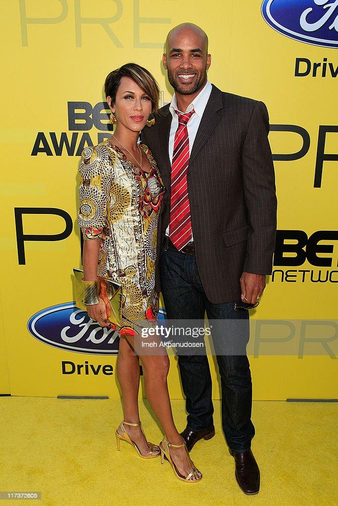 Nicole Ari Parker and Boris Kodjoe attend BET network's 5th annual preBET awards celebration dinner at Book Bindery on June 25 2011 in Los Angeles...