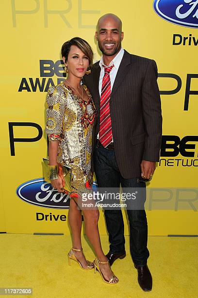 Nicole Ari Parker and Boris Kodjoe attend BET network's 5th annual preBET awards celebration dinner at Book Bindery on June 25 2011 in Los Angeles...
