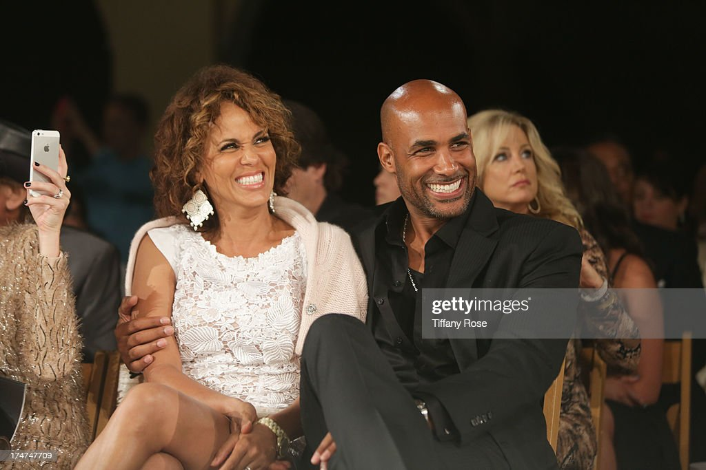 Nicole Ari Parker and Boris Kodjoe attend the 15th Annual DesignCare benefiting The HollyRod Foundation on July 27, 2013 in Malibu, California.