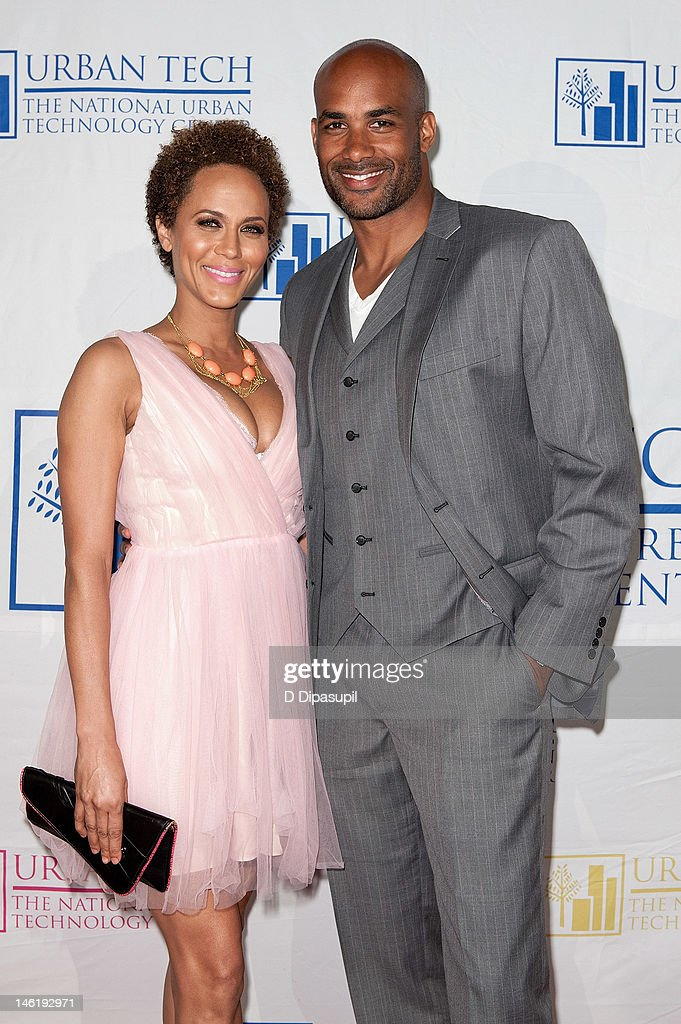 Nicole Ari Parker (L) and Boris Kodjoe attend the 17th Annual National Urban Technology Center Gala at Capitale on June 11, 2012 in New York City.