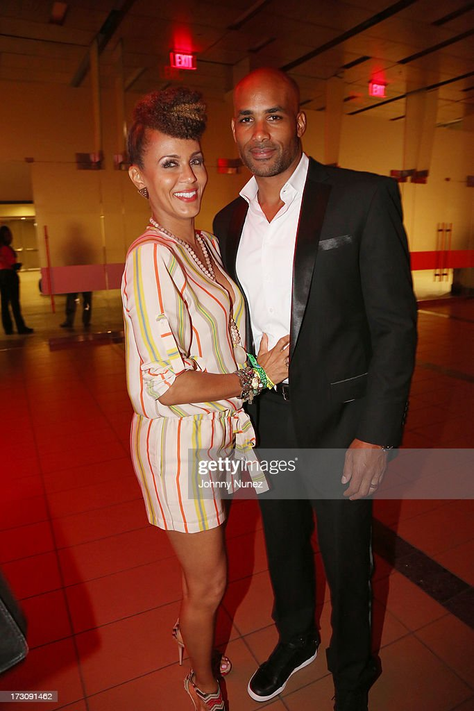 Nicole Ari Parker and Boris Kodjoe attend the 2013 Essence Festival at the Mercedes-Benz Superdome on July 6, 2013 in New Orleans, Louisiana.