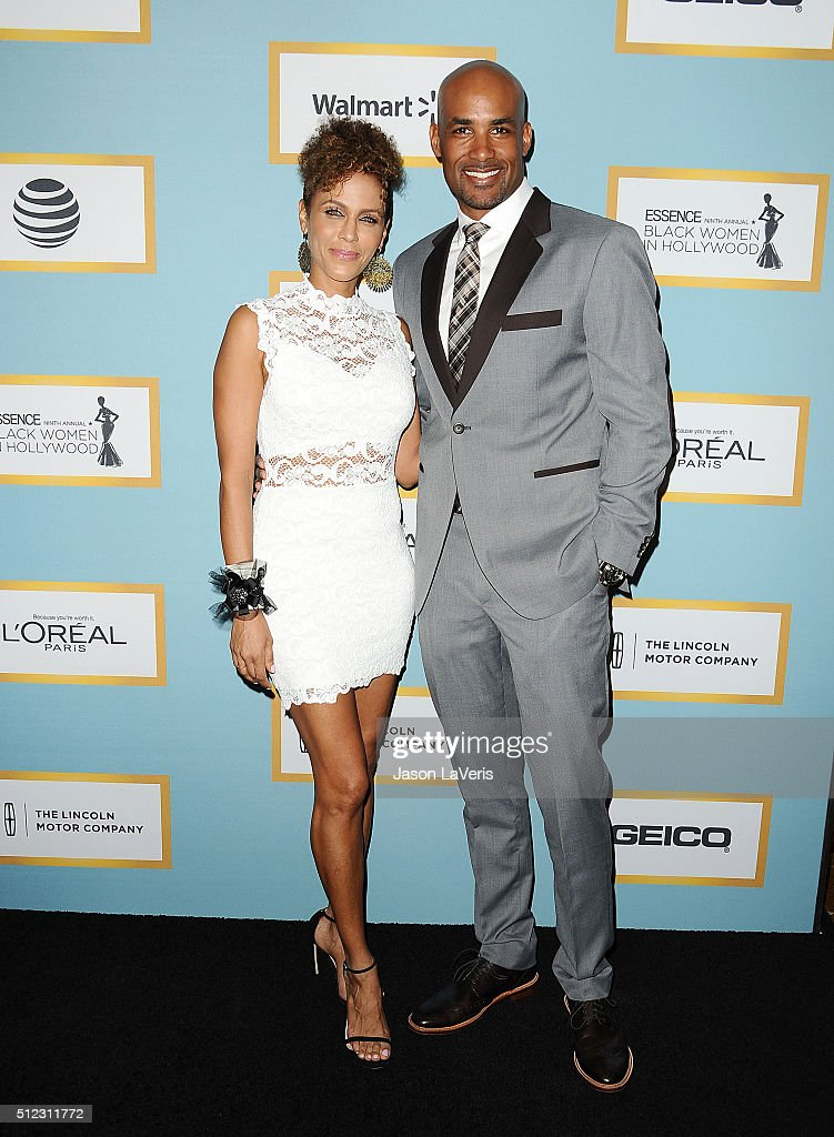 Nicole Ari Parker and Boris Kodjoe attend the Essence 9th annual Black Women In Hollywood event at the Beverly Wilshire Four Seasons Hotel on...
