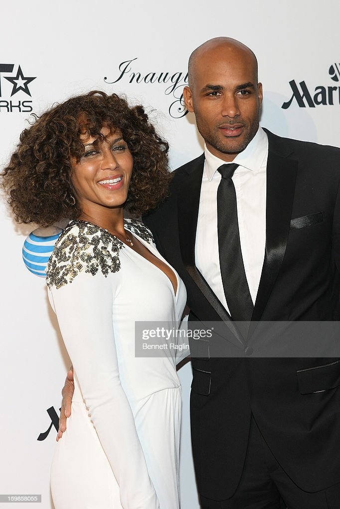 Nicole Ari Parker, and Boris Kodjoe attend the Inaugural Ball hosted by BET Networks at Smithsonian American Art Museum & National Portrait Gallery on January 21, 2013 in Washington, DC.