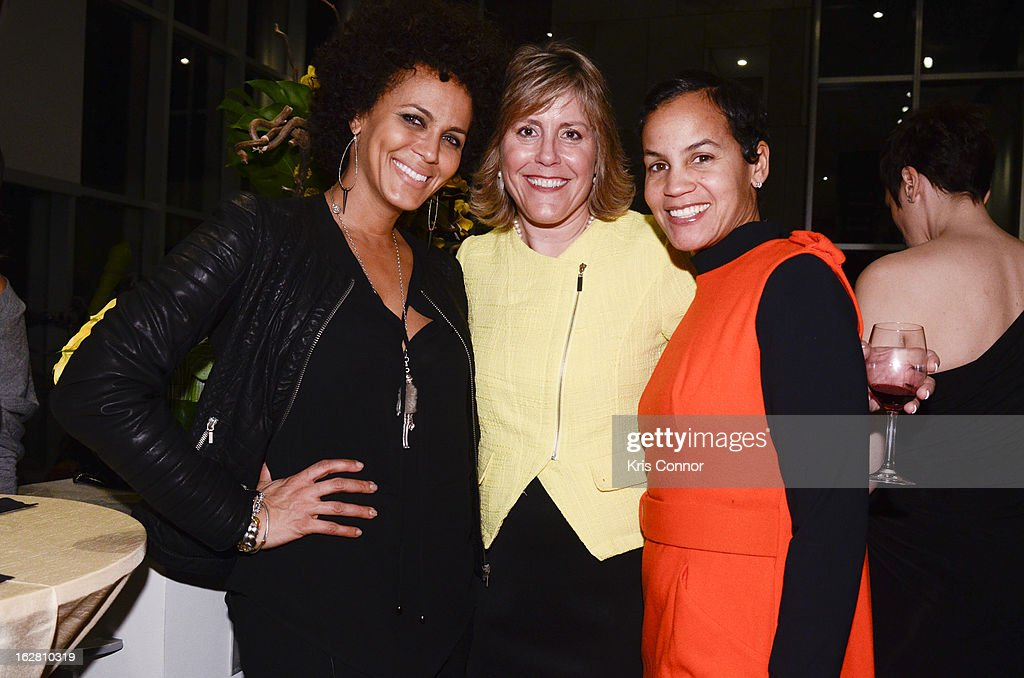 Nicole Ari Parker, Jill Osur and Erica Reid pose for a photo during the Leading Women Defined: First Ladies Reception on February 27, 2013 in Washington, DC.