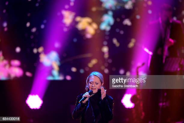 Nicole attends the 'Eurovision Song Contest 2017 Unser Song' show on February 9 2017 in Cologne Germany